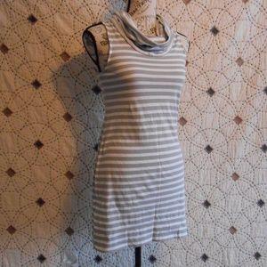 EUC Express Striped Sleeveless Cowl Mini Dress XS